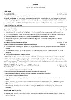 留学申请MBA简历模板