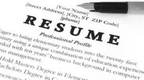Thumb resume